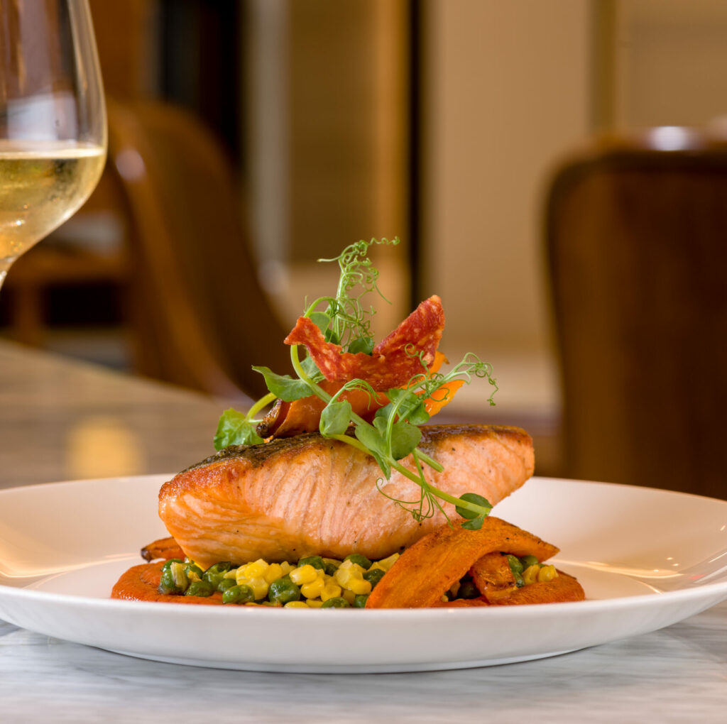 Isabelle's Grill Room & Garden_Scottish Salmon_Photo Credit rmstudiocorp